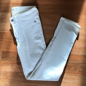 White skinny jeans - ankle length